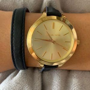 MK - Slim Double Wrap Watch